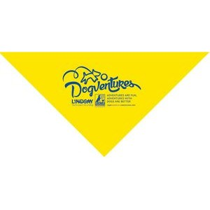4900T Series Large Bright Yellow Triangle Bandanna