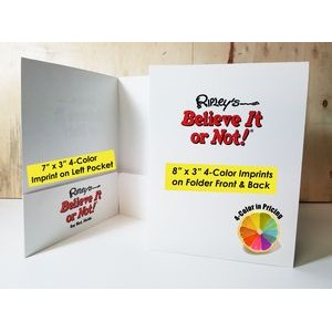 Economy 2 Pocket Folder (3 Full Color Imprint Areas, Gloss Finish & Business Card Slot)