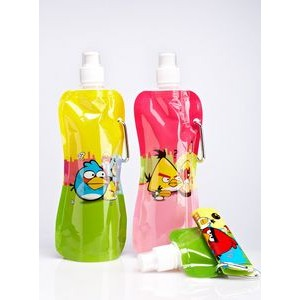 Football Pocket Bottles Foldable Water Bottle w//Carabiner /& Brush 16 oz